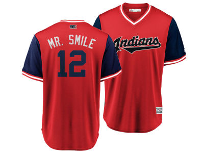 Cleveland Indians Francisco Lindor MLB Men's Player's Weekend Replica Cool Base Jersey