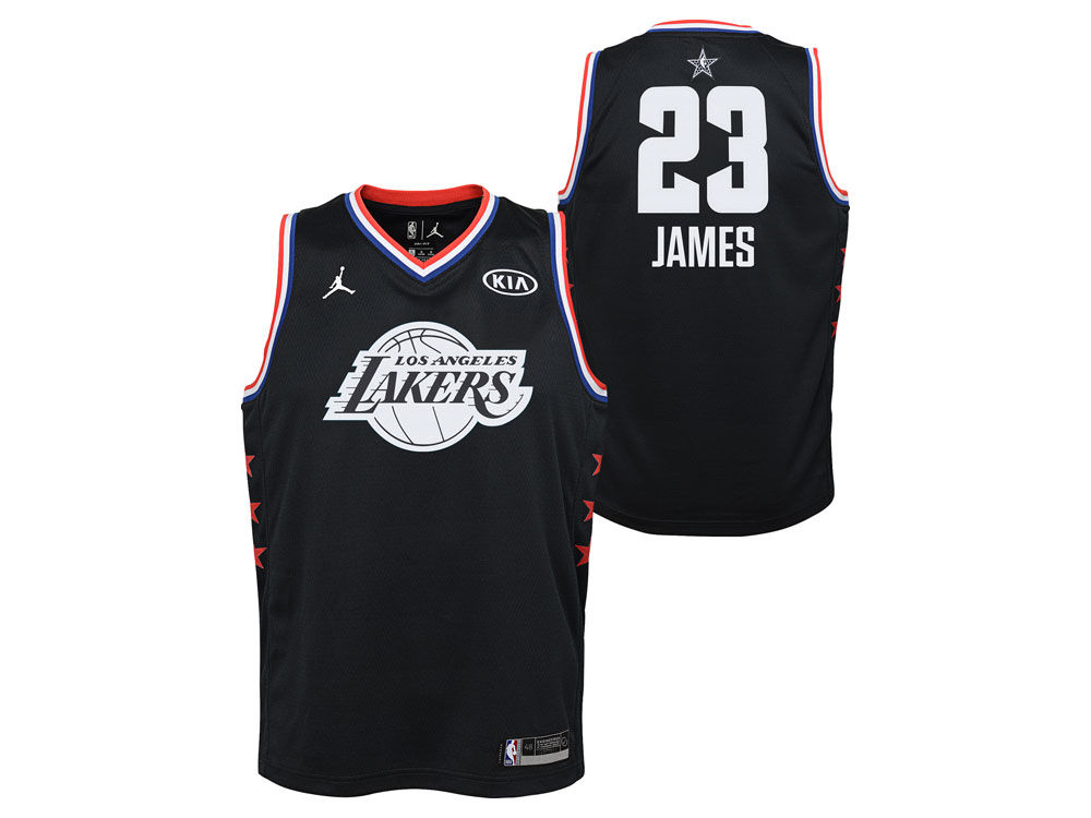 75311f328 Los Angeles Lakers Lebron James Jordan 2019 NBA Youth All-Star Swingman  Jersey
