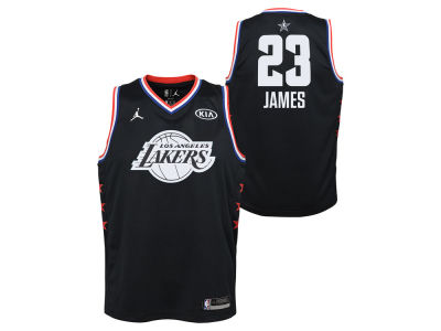 5694854c5 Los Angeles Lakers Lebron James Jordan 2019 NBA Youth All-Star Swingman  Jersey