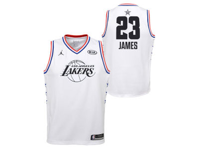 Los Angeles Lakers Lebron James Jordan 2019 NBA Youth All-Star Swingman Jersey