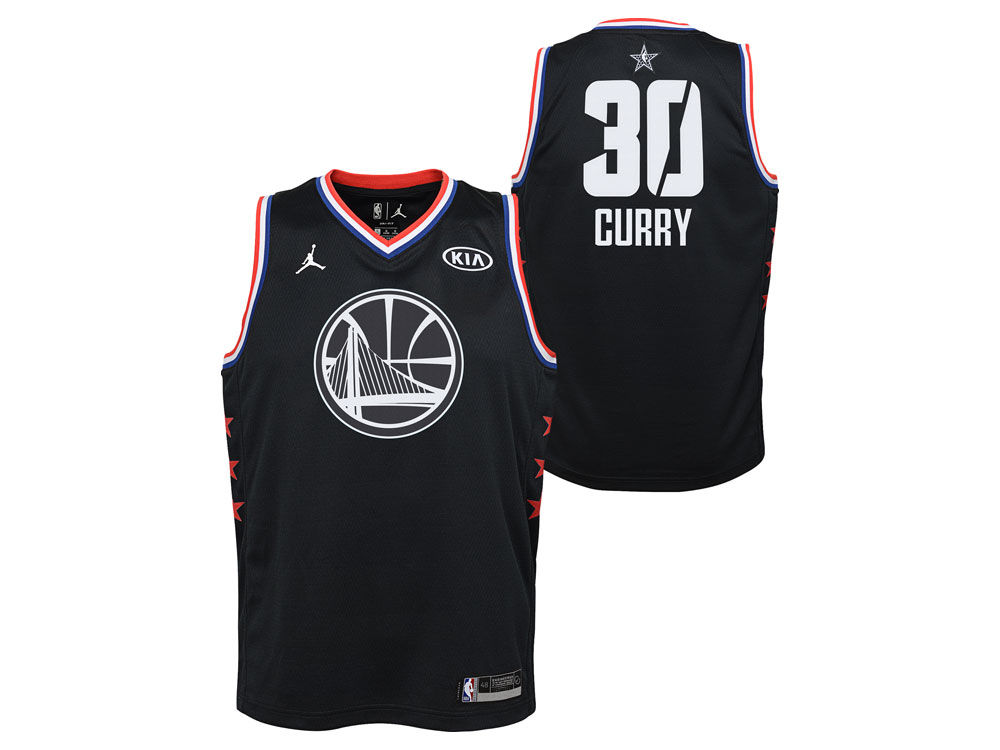 Golden State Warriors Stephen Curry Jordan 2019 NBA Youth All-Star Swingman  Jersey  78061d636dfe