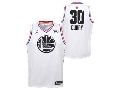Golden State Warriors Stephen Curry Jordan 2019 NBA Youth All-Star Swingman Jersey