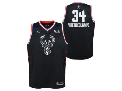 Milwaukee Bucks GIANNIS ANTETOKOUNMPO Jordan 2019 NBA Youth All-Star Swingman Jersey