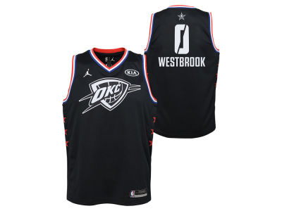 Oklahoma City Thunder Russell Westbrook Jordan 2019 NBA Youth All-Star Swingman Jersey