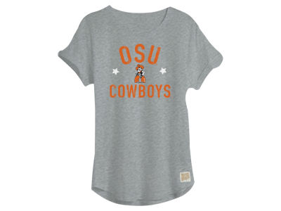 Oklahoma State Cowboys Retro Brand NCAA Youth Girls Rolled Sleeve T-Shirt