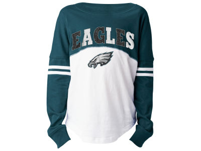 Philadelphia Eagles 5th   Ocean NFL Youth Girls Slub Long Sleeve T-Shirt b12db200d