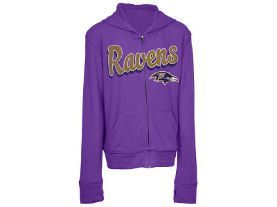 Baltimore Ravens 5th & Ocean NFL Youth Girls Sweater Full Zip Hoodie