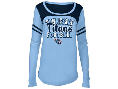 Tennessee Titans 5th & Ocean NFL Youth Girls Sleeve Stripe Long Sleeve T-Shirt