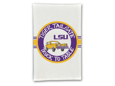 LSU Tigers Magnolia Lane Fan Hand Towel