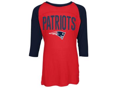 9a793f2cc New England Patriots 5th   Ocean NFL Youth Girls Raglan T-Shirt
