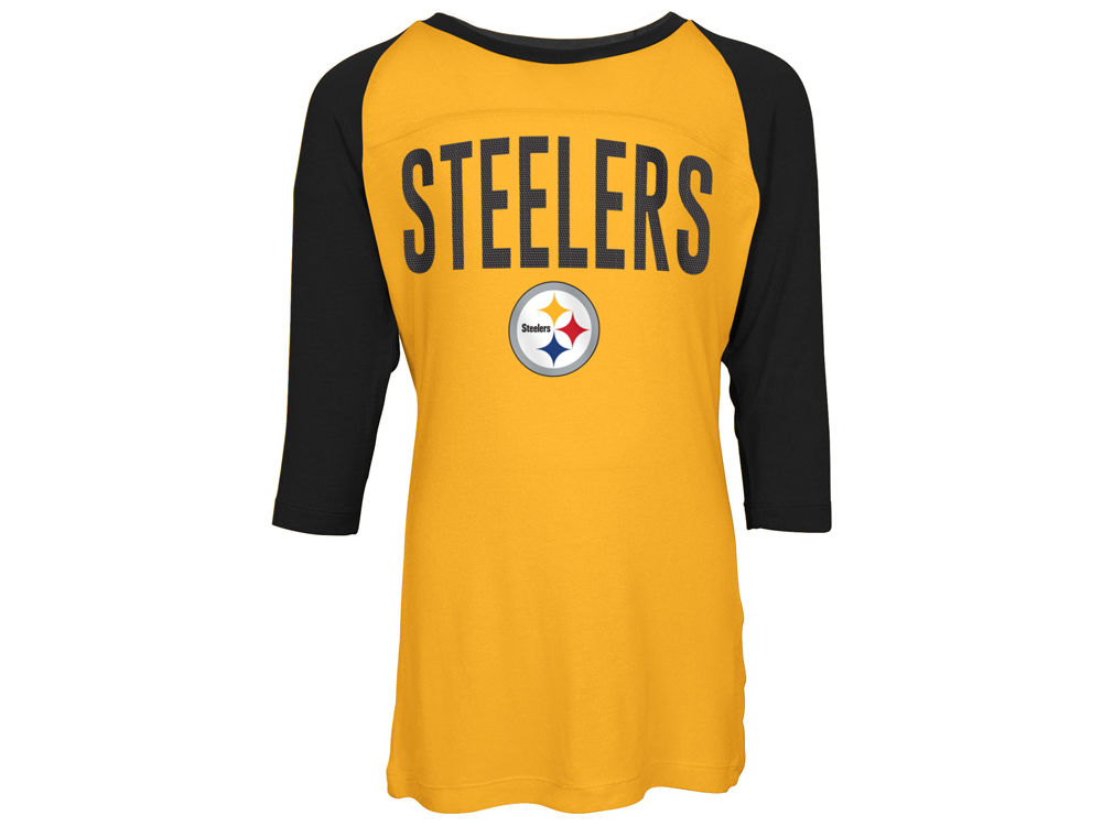 Pittsburgh Steelers 5th   Ocean NFL Youth Girls Raglan T-Shirt ... ed2f8ca39