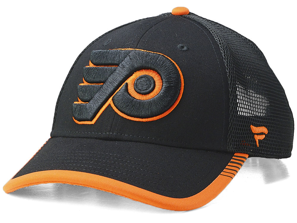 Philadelphia Flyers NHL Iconic Stripe Trucker Cap  b64a88452c1