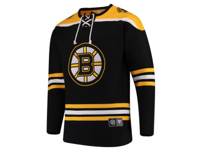 Boston Bruins NHL Men's Breakaway Lace Up Crew Sweatshirt
