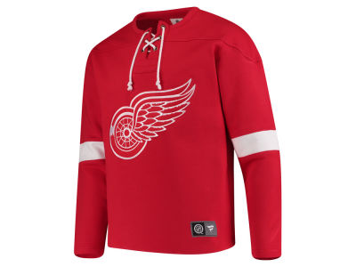 Detroit Red Wings NHL Men's Breakaway Lace Up Crew Sweatshirt