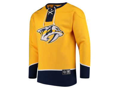 Nashville Predators NHL Men's Breakaway Lace Up Crew Sweatshirt