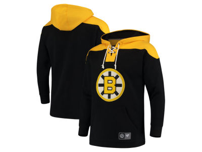 Boston Bruins NHL Men's Breakaway Lace Up Hoodie