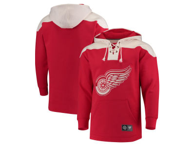 Detroit Red Wings NHL Men's Breakaway Lace Up Hoodie