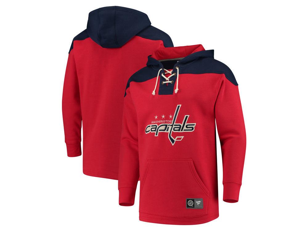 Washington Capitals NHL NHL Men s Breakaway Lace Up Hoodie  c3d019e72