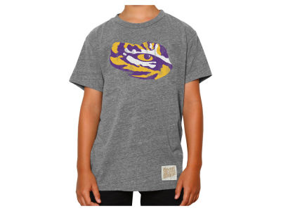 LSU Tigers Retro Brand NCAA Youth Tri-Blend T-Shirt