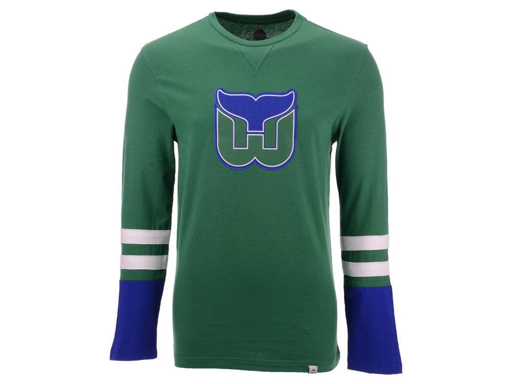 Hartford Whalers Majestic NHL Men s 5 Minute Major Long Sleeve T-Shirt  e652cb6a1