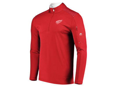 Detroit Red Wings NHL Men's Ultra Streak Half Zip Pullover