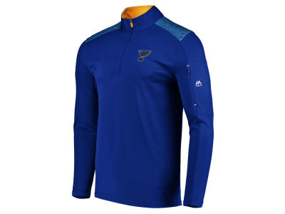 St. Louis Blues Majestic NHL Men's Ultra Streak Half Zip Pullover