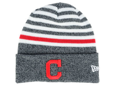 Cleveland Indians New Era MLB Striped Cuff Knit