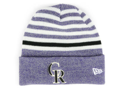 Colorado Rockies New Era MLB Striped Cuff Knit