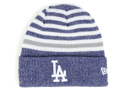 Los Angeles Dodgers New Era MLB Striped Cuff Knit f3e1fac188c5