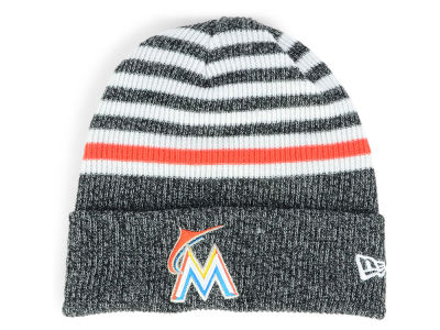 Miami Marlins New Era MLB Striped Cuff Knit
