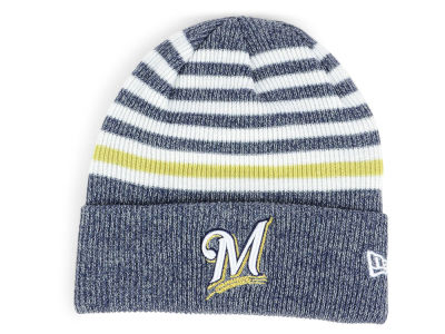 Milwaukee Brewers New Era MLB Striped Cuff Knit