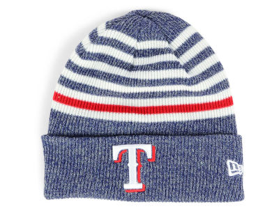 Texas Rangers New Era MLB Striped Cuff Knit