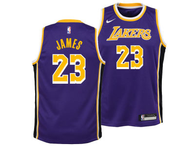 Los Angeles Lakers LeBron James Nike NBA Youth Statement Swingman Jersey
