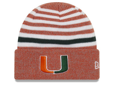 Miami Hurricanes New Era NCAA Striped Chill Knit 960c4773e