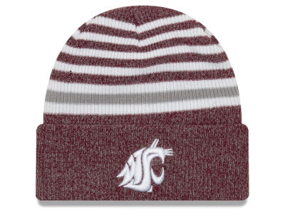 Washington State Cougars New Era NCAA Striped Chill Knit