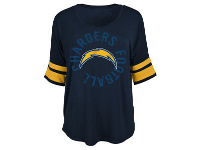 San Diego Chargers 5th & Ocean NFL Women's Circle Logo T-Shirt