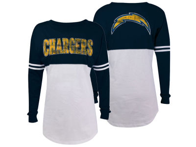 San Diego Chargers 5th & Ocean NFL Women's Sweeper Long Sleeve T-Shirt