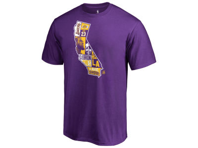 Los Angeles Lakers LeBron James NBA Men's Player State T-Shirt