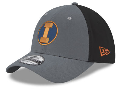 Illinois Fighting Illini New Era NCAA Heather Black Neo 39THIRTY Cap