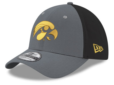 Iowa Hawkeyes New Era NCAA Heather Black Neo 39THIRTY Cap
