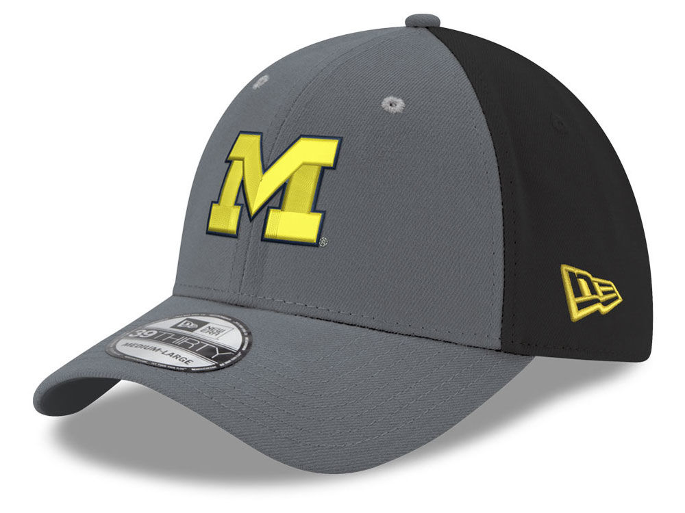 hot sale online 1953d ccbf5 ... italy michigan wolverines new era ncaa heather black neo 39thirty cap  a1886 2886f