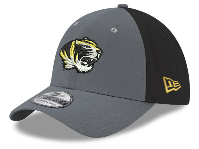 Missouri Tigers New Era NCAA Heather Black Neo 39THIRTY Cap