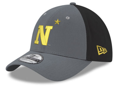 Navy Midshipmen New Era NCAA Heather Black Neo 39THIRTY Cap