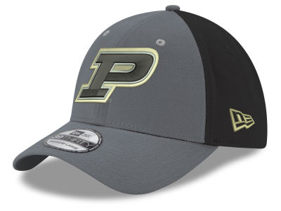 Purdue Boilermakers New Era NCAA Heather Black Neo 39THIRTY Cap