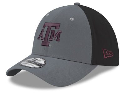 Texas A&M Aggies New Era NCAA Heather Black Neo 39THIRTY Cap