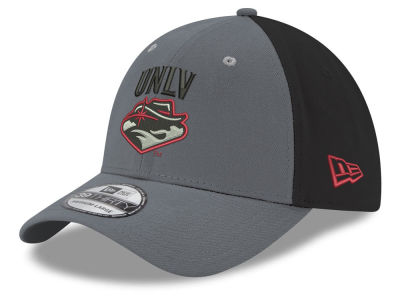 UNLV Runnin Rebels New Era NCAA Heather Black Neo 39THIRTY Cap