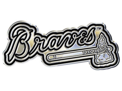 Atlanta Braves Stockdale Metal Auto Emblem