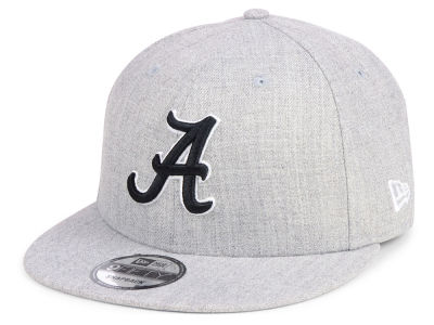 Alabama Crimson Tide New Era NCAA Heather Gray 9FIFTY Snapback Cap