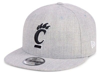 Cincinnati Bearcats New Era NCAA Heather Gray 9FIFTY Snapback Cap