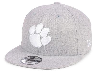 5b4e52b8aee Clemson Tigers New Era NCAA Heather Gray 9FIFTY Snapback Cap